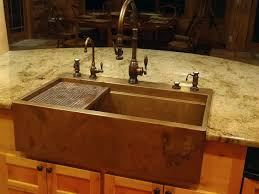kitchen faucets for farm sinks hundreds of photos of copper sinks installed in kitchens