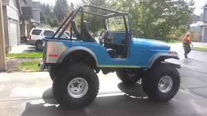 willys jeep lifted 1973 jeep cj5 327 sbc lifted on 39 5 youtube