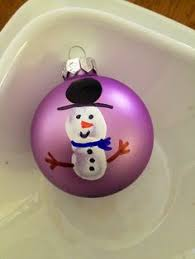 cotton snowman ornament and way easy to make