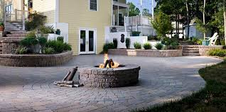 Patio With Firepit Custom Outdoor Fireplace Columbus Ohio Outdoor Fire Pit