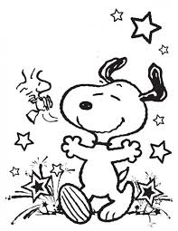 Cartoon Snoopy Coloring Pages Kids Free Printable Coloring