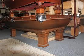 brunswick monarch pool table sold antique brunswick newport pool table c 1892