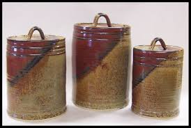rustic kitchen canister sets rustic kitchen canisters ceramic set of 4 white and jars 640x280 2