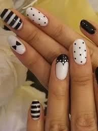 fabulous white and black nail designs that will charm your