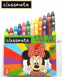 classmate product classmate wax crayons 12 shades minikids in