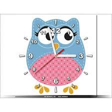horloge chambre bébé 30x30cm hibou chambre enfant horloge murale tableau deco