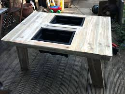 coffee table with cooler side table wine cooler side tables ideas