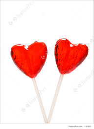 s day lollipops picture of heart shaped lollipops