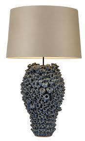 blue coral ceramic lamp