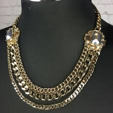 chunky statement chain necklace images Chunky jewel multi chain statement necklace os from ella rae jpg