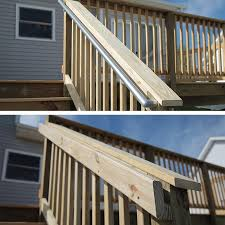 Decking Kits With Handrails How To Build A Deck Wood Stairs And Stair Railings