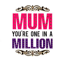 mum you u0027re one in a million mother u0027s day card cards love kates