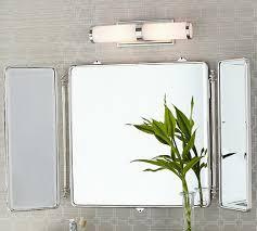 tri fold bathroom mirror astounding inspiration tri fold bathroom wall mirror innovative