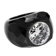 art deco style faux 20 carat diamond black onyx ring at 1stdibs