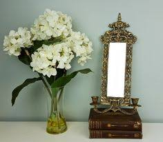 Mirror With Candle Sconces Antique Victorian French Chinoiserie Brass Wall Sconce Mirror With
