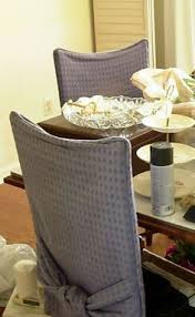 Diy Dining Room Chair Covers Diy Dining Chair Slipcovers From A Tablecloth Dining Chair