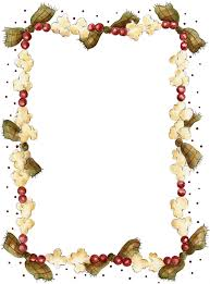 popcorn border printable christmas recipe page printables