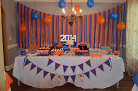 school graduation party orange blue graduation end of school party ideas