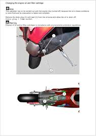 oil change from the workshop manual ducati 899 panigale forum