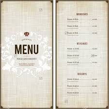 sle menu design templates menu sle template 28 images free restaurant menu templates
