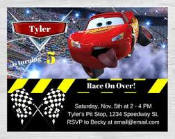 cars invitation cars birthday party radiator springs cars