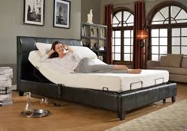 furniture adjustable bed with comfy mattress and casement window