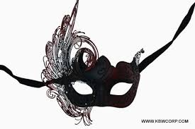black and red venetian mask with metal laser cut swan u2013 abracadabranyc