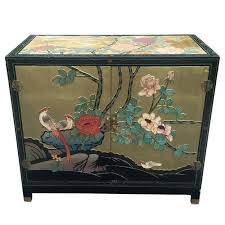 Chinese Secretary Desk by Large Antique Chinese Hand Painted Cabinet Scranton Antiques