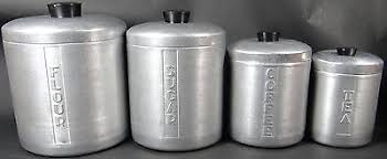metal kitchen canisters vintage aluminum canister set vintage things