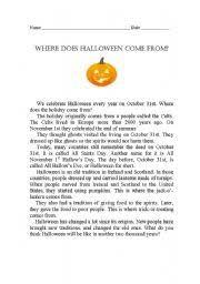 english teaching worksheets halloween