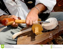 Hand Carved Wooden Kitchen Utensils by Carving Wood Spoon Royalty Free Stock Images Image 6669579