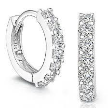 diamond earrings malaysia sterling silver rhinestones hoop diamond stud earrings for women