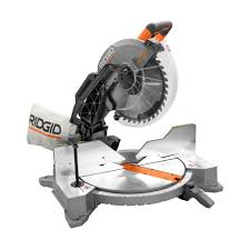 ridgid 15 amp 12 in dual bevel miter saw with laser r4122 the