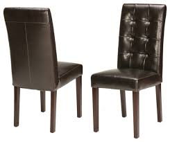 wonderful genuine leather tufted dining chair traditional dining chairs within genuine leather dining chairs modern