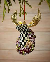 mackenzie childs regal moose christmas ornament