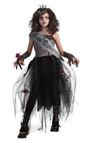 Vampire Costume Goth Prom Queen Zombie Girls Fancy Dress Halloween Childs Kids