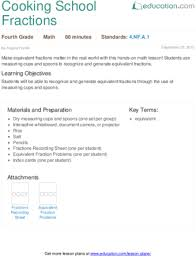 math lessons for 4th grade 4th grade fractions lesson plans education