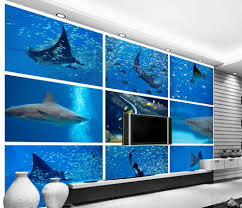 popular tropical wall murals buy cheap tropical wall murals lots custom 3d wallpaper underwater world shark tropical fish background wall mural 3d wallpaper china