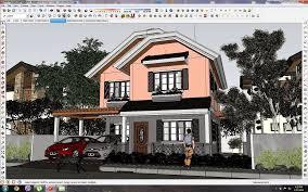 sketchup texture sketchup 3d model small modern villa 12