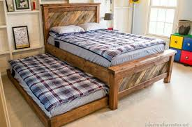 Bed Frame Made From Pallets Bed Made With Pallets Design Decoration