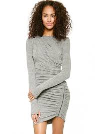 grey bodycon dress grey sleeve zipper slim bodycon dress abaday