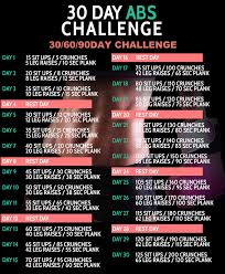 How To Do Challenge 30 Day Abs Challenge 306090 D
