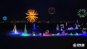 enchanted forest christmas lights saskatoon s enchanted forest drone aerial view 2015 youtube