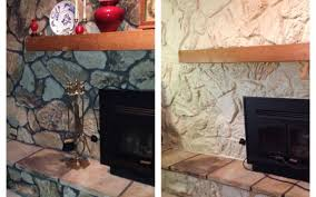glidden paint stone fireplace stovers