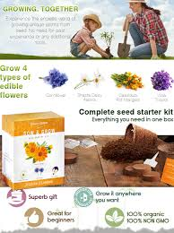 edible flowers edible flower seed kit grow 4 culinary flowers from