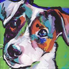 american eskimo dog jack russell mix smooth jack russell terrier art print of pop art dog painting