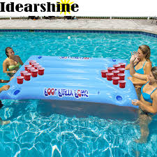 Pool Beer Pong Table by 180 90cm Inflatable Beer Pong Table Pool Floats 24 Cup Hole 2017