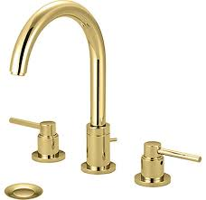 Polished Brass Bathtub Faucets Pioneer 3mt400 Pb 2 Handle Widespread Lavatory Faucet A Polished