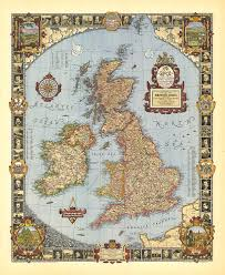 Map Of The British Isles A Modern Pilgrim U0027s Map Of The British Isles