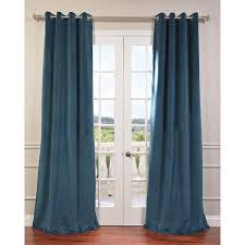 exclusive fabrics signature velvet grommet 108 inch blackout curtain panel sable brown 108l brown size 50 x 108 polyester solid